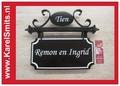 €99,50 Landelijk Naambord Huisnummer Afbeelding Zwart