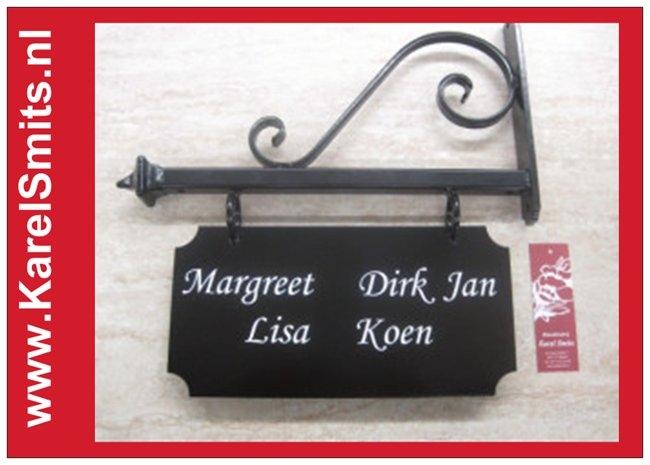 Uithangborden Amsterdam Zwart