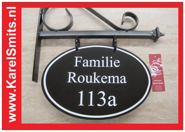 Uithangborden Ovaal Zwolle Zwart
