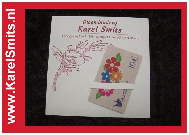 Cadeaubonnen inleveren bij Karel Smits